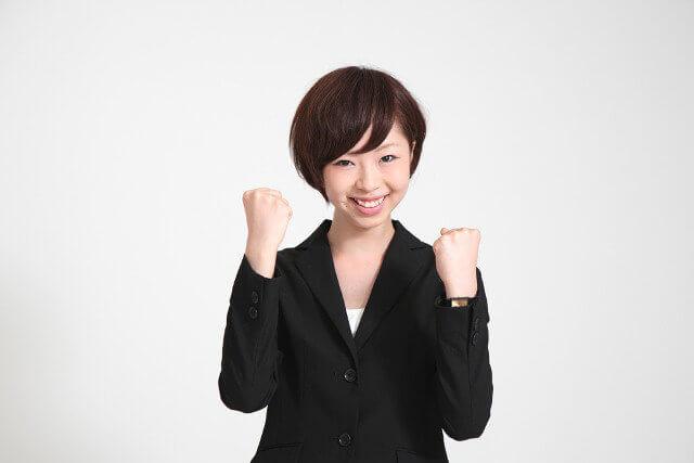 従業員満足度が高い女性社員のイメージ